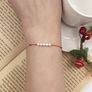 *Le Bonheur Line Happiness Line*925 sterling silver silver chain pearl design / red line bracelet redline marriage line month old hand rope thin line hand line