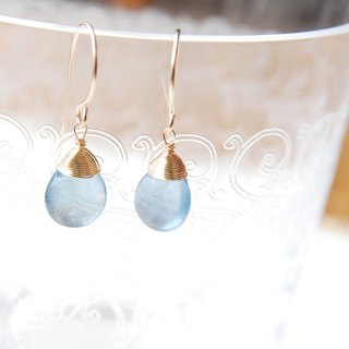 Blue Flowlight Earrings 14 kgf
