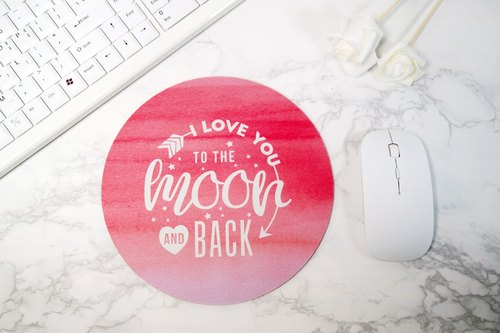 Pink Mouse Pad Round Mousepad Desk Decor Office Decor