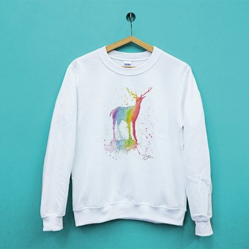 Rainbow deer United States GILDAN Cotton Soft texture University T