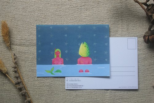 Fantasy Animals People Postcards [fish]