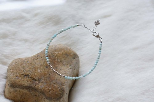 Larimar Silver 925 Bracelet with Linear Memory Alloy