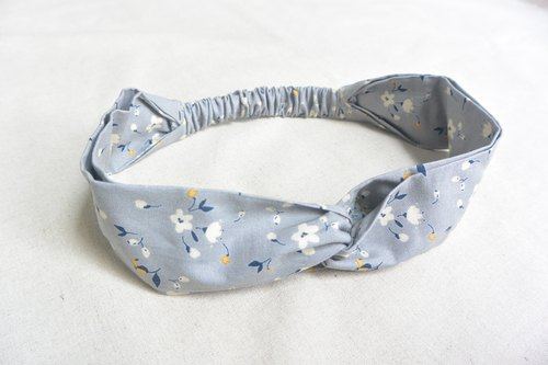 Elastic band - gray floral