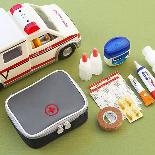 Dessin x Iconic- travel portable first-aid kit S- textured gray, ICO85010
