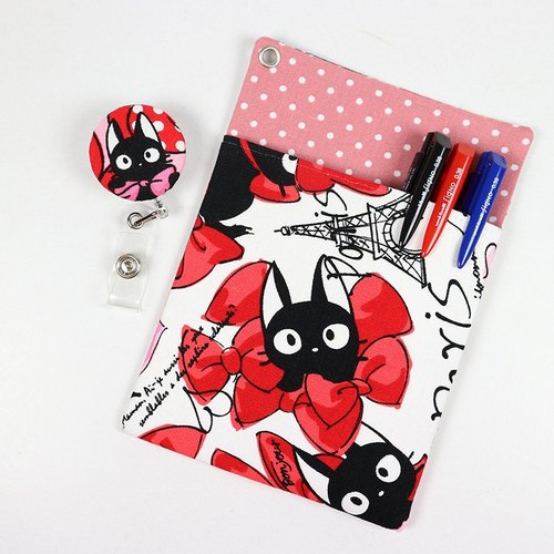 Physician gowns leakproof pocket pouch ink pen documents folder + - Butterfly cat (red)