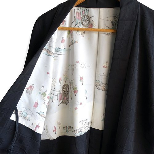 │Slowly│ Japanese Antiques - Light kimono coat M20│ .vintage retro vintage theatrical...