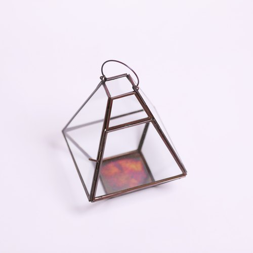 Pyramid candle holder / flowerware _ fair trade