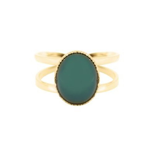Green agate lady ring