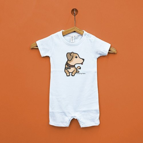 Cute sausage dog pediatric baby Japan United Athle cotton soft sense of short-sleeved package ass clothing