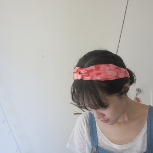 YInke Summer Hair Band - Red Bubbles / Green Bubbles