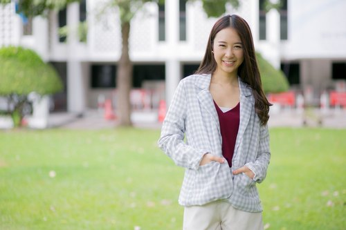 Candy checkered blazer