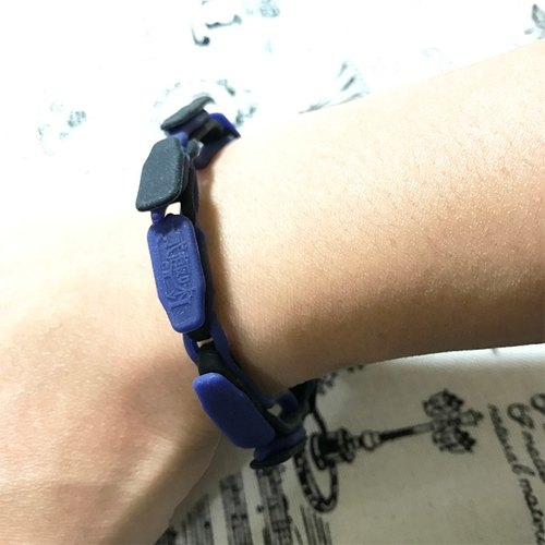 """Opera bracelet"" Black Blue Silicone section [material]"