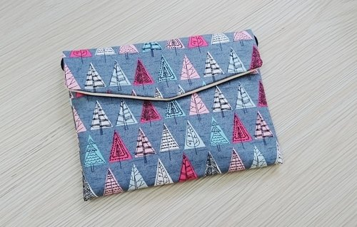 Clutch Bag side cell phone pocket debris package tree stock + booking