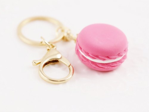 Macaron strap wedding was small colorful peach