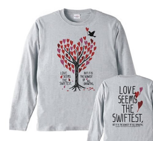 Heart full tree long-sleeved T-shirt [order product]