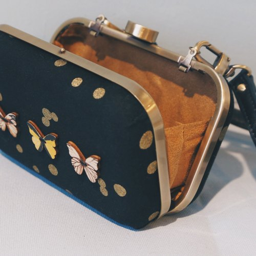 Lights butterfly satchel bag