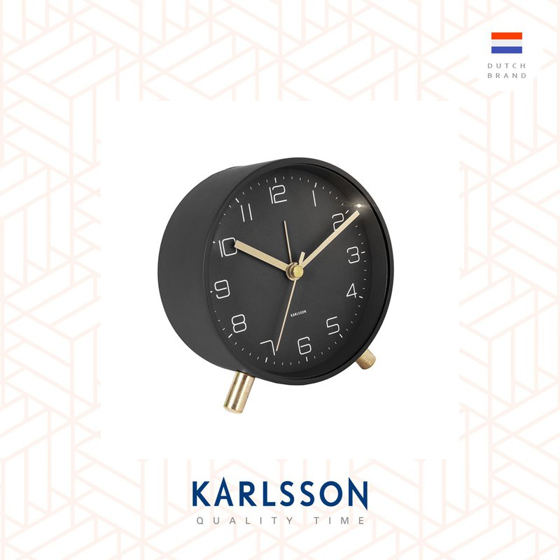 荷蘭Karlsson, Alarm clock Lofty matt black (帶小夜燈功能)