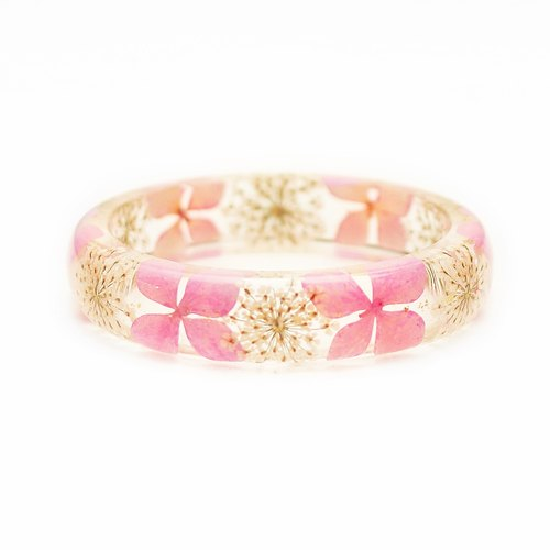 FlowerSays / Hydrangea Real Flower Bracele / PinkCollection / Eternal Flowers / Bracelet
