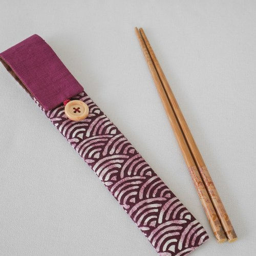 [Pink wave hit color chopsticks sets - no tableware]