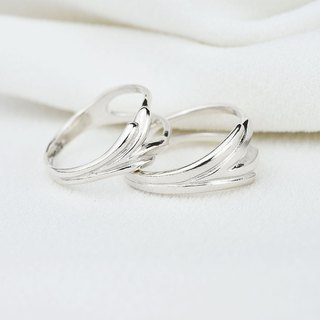 ove Blossom (silver couple ring) - C percent jewelry