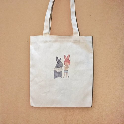 Together with white face [] / canvas / dot canvas bag