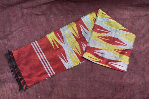 "EARTH.er │FAIR TRADE product Nepali ""DHAKA"" SCARF #13│"