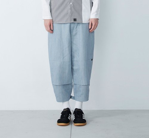 Sticky feet - the devil sticky mouth wide pants - light blue
