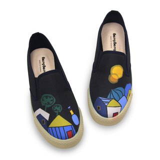 Parent-child fairy tales casual shoes - Black Hundred Waters Apartment Little Red Riding Hood and Big Wolf Vienna Tour (Adult)