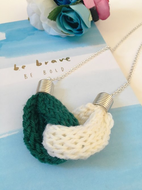 Knitted Knot Heart Necklace - Be Brave Be Bold
