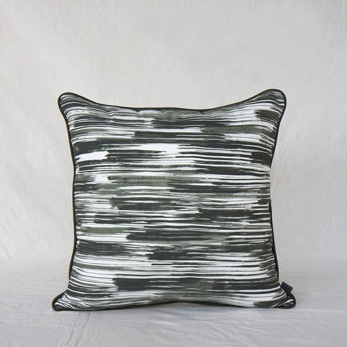 GO WITH FLOW Cushion in Hushed Evergreen 50 x 50 cm
