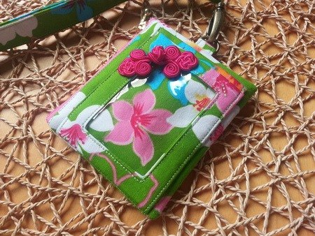 Tung Blossom Flower - ID Card Holder / Easy Card Holder (With Neck Strap and Telescopic Pull Ring)