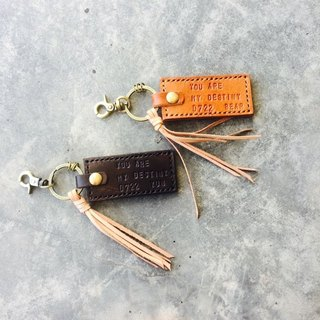 Genuine Leather Key Chain Customized Couple Key Valentine's Day Gift Sniffing Hand Make a pair