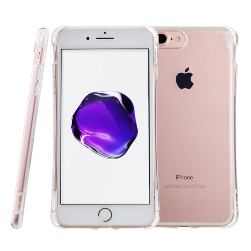 SIMPLE WEAR Apple iPhone 7 Plus dedicated GRIP-encapsulated transparent TPU Case - Transparent (4716779656435)
