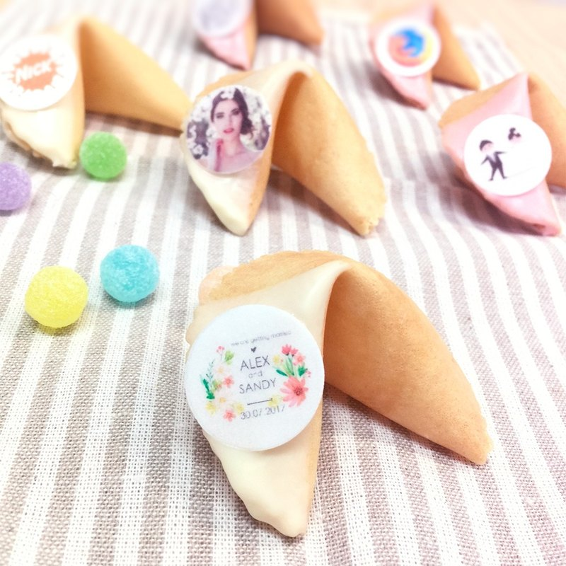 Edible photo wedding small things logo image chocolate customized lucky cookie delivery gift ceremony handmade