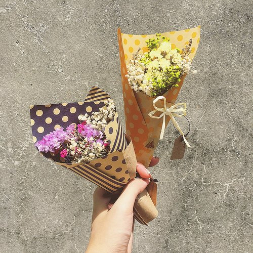 Chiffon Chubby ELF❤ Small Dry Flower Bouquet ❤ / Gift - Valentine's Day Mother's Day Dry Flower Bouquet Packaging Decoration Graduation