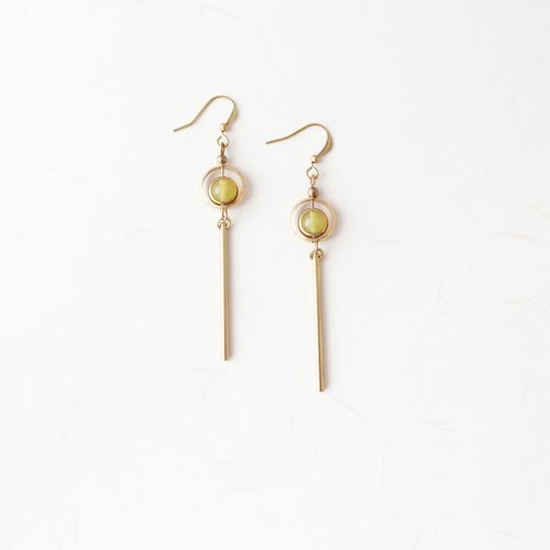 ◈ elegant geometry. Summer ◈ brass earrings sister girlfriend friend birthday birthday gift
