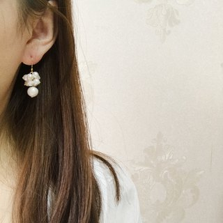 Grape earrings ear clip