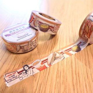 Teahouse high tea illustration masking tape 01