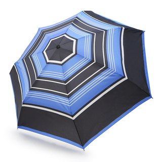 Safe, non-rebound, windproof, anti-UV automatic umbrella - navy