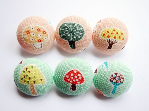 Sewing knitting cloth buckle handmade material color mushrooms