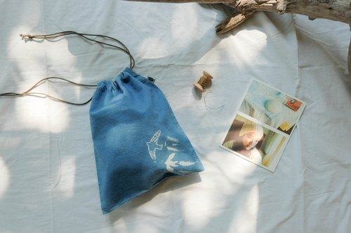 Mini Drawstring Bag ::: Natural Indigo ::: 012.