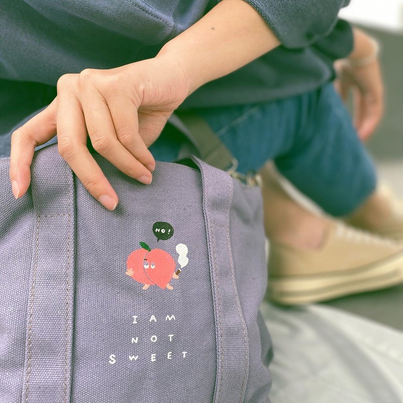 I'm not sweet at all / carry shoulder bag / purple gray