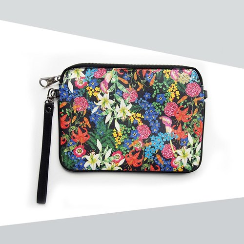 Black Flower Clutch (Small) - Love Flower Collection