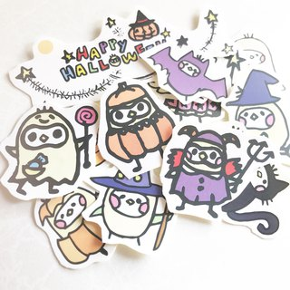 Halloween illustration sticker