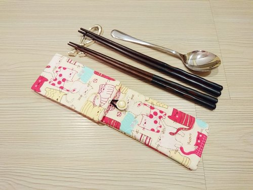 Tableware pouch bags chopsticks chopsticks specific composition (can be put two pairs of chopsticks. Spoon. Forks) A306