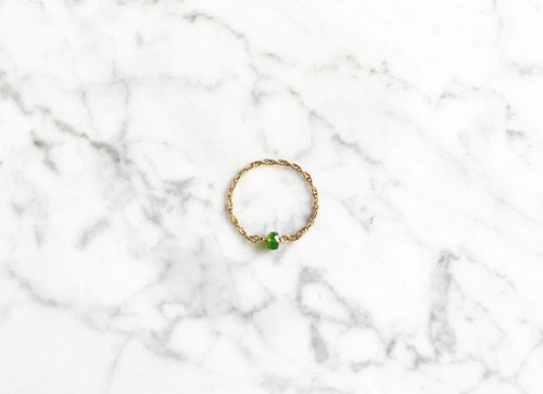 """Ring chain classic feel"" chrome diopside Danmei Guo 14K gold (14kgf) Ring chain"