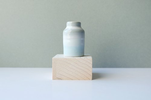 Otaru Blue series of single products Ping mouth small vase