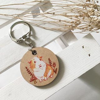 Illustration Charm keychain - stay face guinea pigs