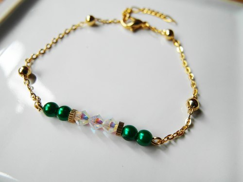 Time Travel crystal bracelet【Green Calla】