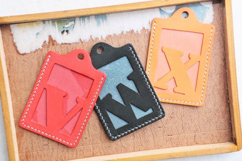 頭文字 V | W | X 字母證件套 好好縫 皮革材料包 卡片夾 名片夾